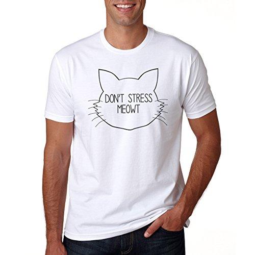 Don't Stress Meowt Kitty Cat Herren T-Shirt Weiß