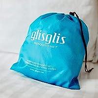 GlisGlis Blue Pyramide – Moskitonetz für Reisen weltweit. Mit Gummizug im Boden, Eingang mit Reißverschluss | Mückennetz, imprägniert, Doppelbett