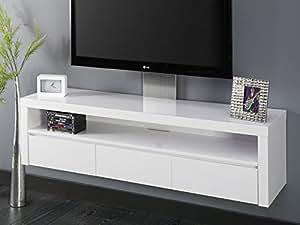 fernsehschrank hochglanz wei lack 3 schubladen schwebend k che haushalt. Black Bedroom Furniture Sets. Home Design Ideas