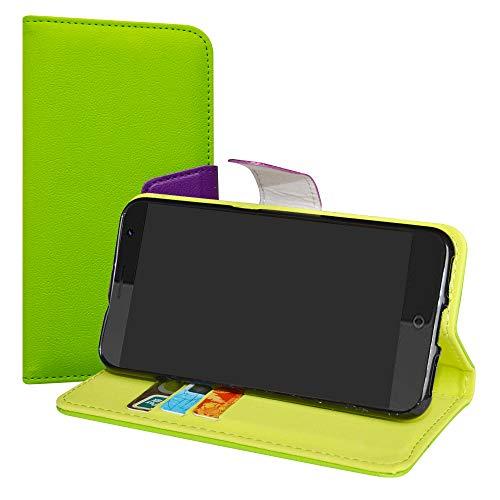 LiuShan ZTE Blade V7 Funda, PU Cuero Book Style Billetera Cartera Monedero con Soporte Funda Caso para ZTE Blade V7 Smartphone(con 4 en 1 Regalo empaquetado),Verde