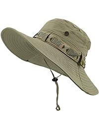 Battercake Cappello da Sole Unisex Cappello da Sole Comodo Anti Cappello da  Donna Estivo da Uomo Ampio Cappello A Tesa Larga con… bee66b5fc196