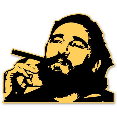 Fidel Castro Vinyl Sticker - Car Window Bumper Laptop - 6-Inch