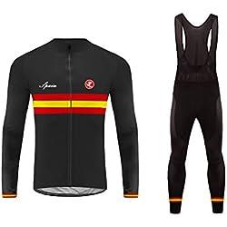 BurningBikewear Uglyfrog мужская одежда зима осень комплект езда на велосипеде одежда с длинным рукавом и полный молнии + длинные брюки удобные дышащие Quick Dry MESQXFCX09