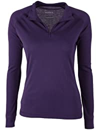 Mountain Warehouse Talus Womens Zip Neck Thermal Baselayer Top - Long Sleeves T-Shirt, Lightweight, Breathable Tee, Quick Dry Tee Shirt – Perfect for Cold Weather