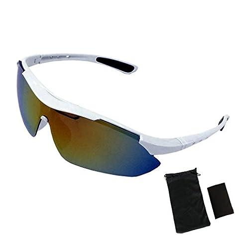 Unisex Polarized Sports Sunglasses, WITERY UV Protection Men Women Cycling Running Polarized Sports Goggles Sunglasses for Baseball Cycling Fishing Golf Superlight Frame
