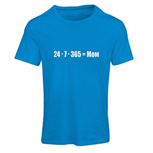 Maglietta Donna Migliore mamma - ti amo messaggio mamma - compleanno, giorno Madri, regali di anniversario Azzulo Bianco