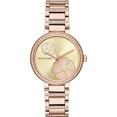 Michael Kors Relojes para Mujer Courtney Rose Gold-Tone Reloj