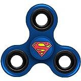 """FOCO Superman Diztracto Spinnerz Three Way Fidget Toy Spinner Toy, Blue, 3"""" X 2.75"""""""