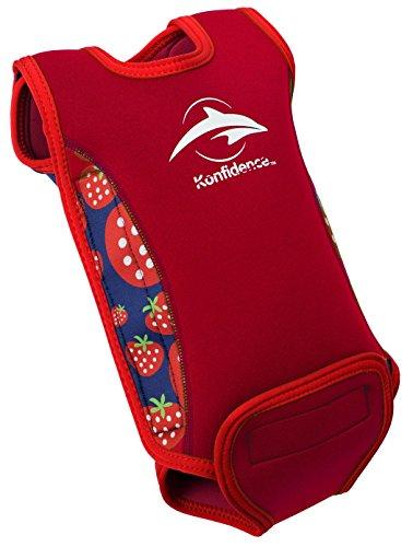 Erdbeer Badeanzug (Konfidence Babywarma Baby-Neoprenanzug -Rot (erdbeere) ,12-24 Monate)