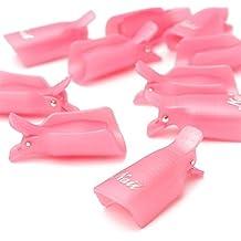 Tongshi 10PC Arte de uñas de Plástico Empapa del Clip de Cápsula de Gel UV Herramienta de Envoltura de Removedor de Esmalte