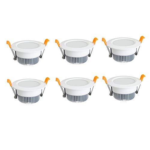DEPAOSHJ 6 paquetes LED3W-7W Baño Inodoro Antena empotrable Downlight Sala de estar...