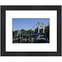 Framed 10x8 Print of Bridge over the Thames near Teddington Lock, Teddington, near (5064703)