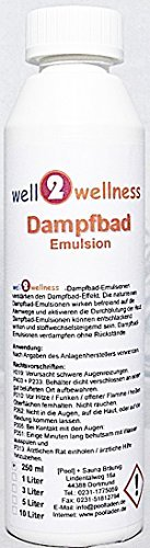 well2wellness® Dampfbademulsion / Dampfbad Duft 250 ml Flasche - über 160 Düfte zur freien Wahl