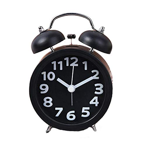 D.ragon Twin Bell Wecker Stille Wecker Mit Hintergrundbeleuchtung Mini Klassischer Wecker Für Zuhause Schlafzimmer Tisch, Batteriebetriebene Reise Clock Laut Twin Bell Wecker