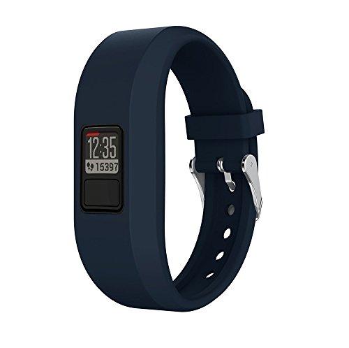 FeiliandaJJ 12 Farben Uhrenband Ersatzarmbänder Für Garmin Vivofit 3,Armbänder Weich Silikon Sport Fitness Smart Watch Zubehör Uhrenarmbänder Replacement Watch Band (Marine) - Garmin 20 Marine
