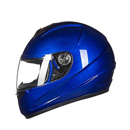 XMGJ Schutzhelme Helm-Helm Motorrad Reiten Anti-Fog Herren Integral Helm Helm Lokomotive Damen Vier...