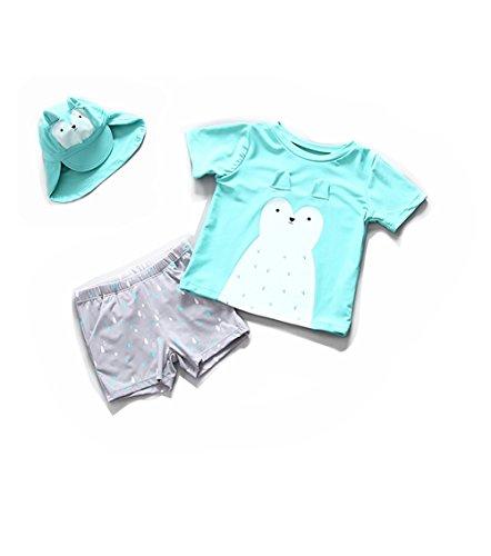 r Bademode zweiteilige Tops & Pants mit elastischer Taille und niedlichen Tier - UPF50 + Sun UV Protect für Beach Swimming Lovely Geschenk für Kinder Baby Boys Mädchen Kleinkinder ()