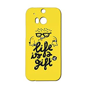 Mobile Cover Shop Glossy Finish Mobile Back Cover Case for HTC One M8