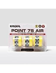 Karakal Point 75 Air Overwrap - Grip para raqueta (3 unidades)