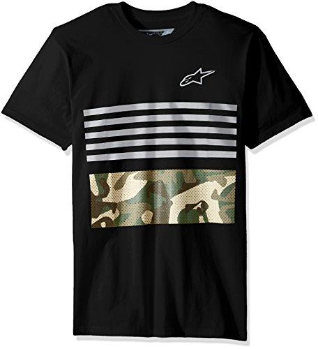 Alpinestars Herren T-Shirt Pressure Motorsports Modern Fit Short Sleeve Schwarz