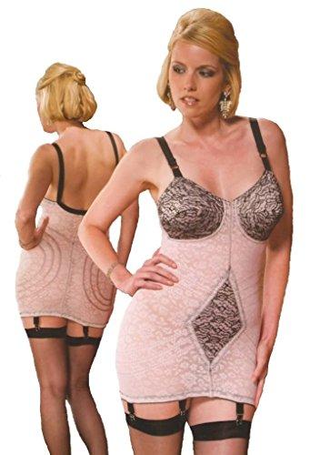 Rago of New York Damen Miederkleid Mehrfarbig Pink & Black 42 (Rago-strumpfhalter)