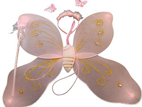 X« Mas Costume Filles » Papillon Wing Baguette Magique Ensemble Bandeau