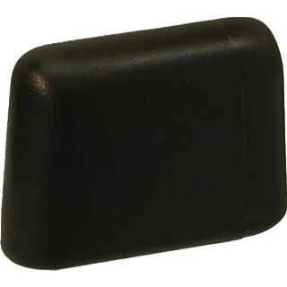 Original DEKAFORM Möbelgleiter Kunststoffgleiter, Fusskappe Casala-Flötotto Stuhlgleiter vorn, Doppel-C-Tisch Gleiter aus Kunststoff, Gleitkappe fuer Flach-Oval-Rohr, 103-38x20-braun