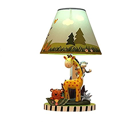 Tony's home- LED Sunny Safari Animals Thematic Kids Table Lamp Imagination Inspiring Hand Painted Details Non-Toxic Lead Free Water-based Paint Table