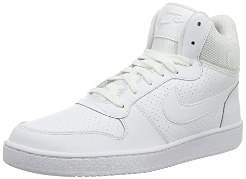 Nike Herren Court Borough Mid Sportschuhe-Basketball, Blanco (White / White-White), 46 EU