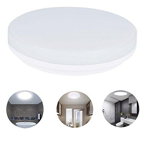 KWODE 15W LED Deckenleuchte, Kaltweiß 6000K Deckenlampe Deckenbeleuchtung, IP44 Rund Badezimmerleuchte Badezimmerlampe Badlampe ideal für Badezimmer Balkon Flur Bad Küche