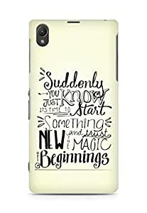 AMEZ start something new and the magic begins Back Cover For Sony Xperia Z1 C6902