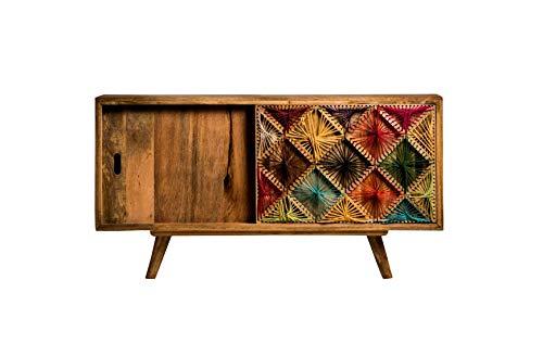 Sideboard Mangoholz Massivholz Happy Mulitcolor Modern Vintage Design