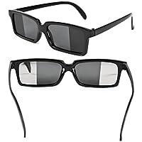 Brille mit Rückspiegel Scherzartikel Spionbrille Joke Spiegelbrille
