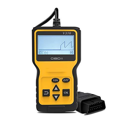 Preisvergleich Produktbild OBD2 Diagnosegerät,  Auto OBD II Diagnose Scanner arbeitet an Autos ab 2000 mit OBD2 / EOBD / CAN-Modi und 16-Pin OBDII-Schnittstelle für Lesen und Löschen Fehlercode und Batterie Test (NEUST 2019 )