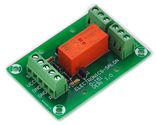 Electronics-Salon Bistable / verouillage DPDT 8 Amp Module de puissance de relais, DC5V Coil, RT424F05