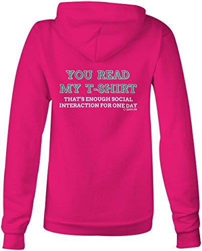 You read my T shirt ★ Confortable veste pour femmes ★ imprimé de haute qualité et slogan amusant ★ Le cadeau parfait en toute occasion pink