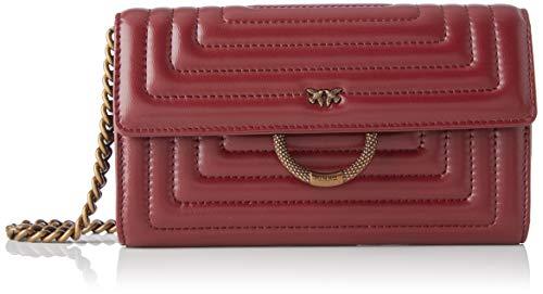 Pinko honolulu wallet, portafoglio donna, rosso (rosso porto), 3x19x12 cm (w x h x l)