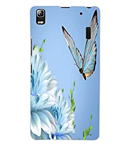 ColourCraft Beautiful Butterfly Design Back Case Cover for LENOVO A7000 PLUS