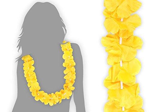 Juego-de-120-unidades-de-collares-hawaiane-HK-07-Amarillo-textil-color-Hawai-Hawaii-flor-accesorios-decoracin-Beach-Party-Fiesta-Tropical-Summer-Tifosi-boda-aniversario-Ftbol-europeos-Mundial