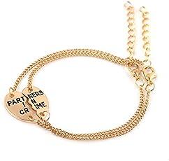 Bold N Elegant Friendship's Day Special Best Friend Partners in Crime Bracelet Combo of 2 Jewellery Pcs BFF Bestie Gift