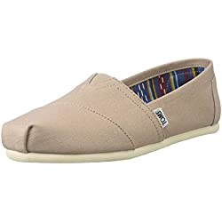 TOMS Seasonal Classics Alpargata, Mujer, Gris (Light Grey), 36 EU