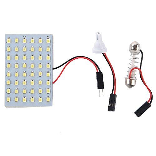 SODIAL(R) 5x 48 blanc SMD Panneau LED 12V + T10 / BA9S Socket + Soffitte Module 29-42mm