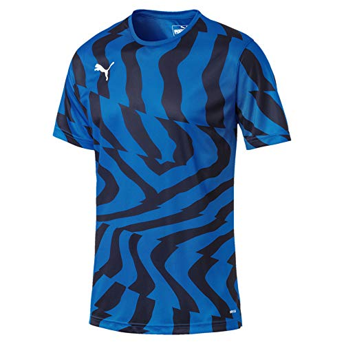 PUMA Herren Cup Jersey Core Trikot, Electric Blue Lemonade White, L