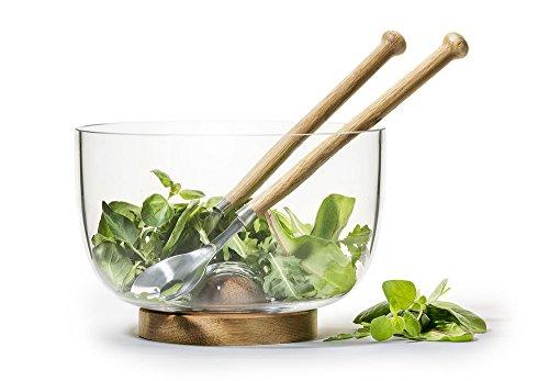 Sagaform Geschenkset Oak Servierschale & Salatbesteck