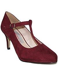 PRIMAR SHOES - Zapato TACÓN Fiesta Carla PS128 Zapatos Tacón Medio Fiesta  Elegantes Casuales Moda 2018 Mujer Tacón Burdeos Negro… 99883f672782
