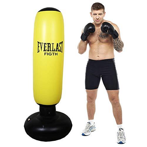 Ridecyle Punching Bag Gonfiabile di Forma Fisica, Sacco di Perforazione del Tumbler della Colonna di Boxing Forte Abbastanza Borsa per addestramento di MMA, di karatè o di Kung Fu