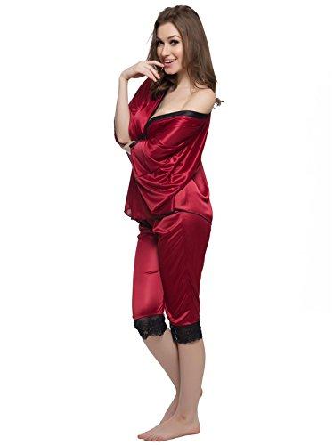 Clovia - Robe de chambre - Femme Rouge - Rouge