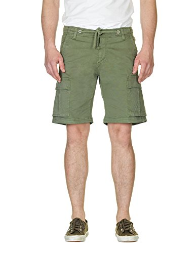 Franklin & Marshall Men's Men's Military Khaki Bermuda Shorts Green