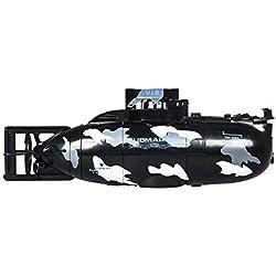 Drone Avec Caméra Hd, Chshe Rc, Télécommande Rc Haute Vitesse Sous-Marin Sous-Marin Mini Rc Pour Cadeau Pour Enfants (Noir)