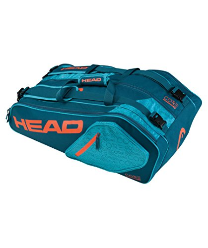 Head Core 9R SuperCombo Tennisschläger Tasche, unisex, Core 9R Supercombo Petrol